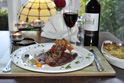 Stuffed neck fillet of Lamb, with Red onion marmalade